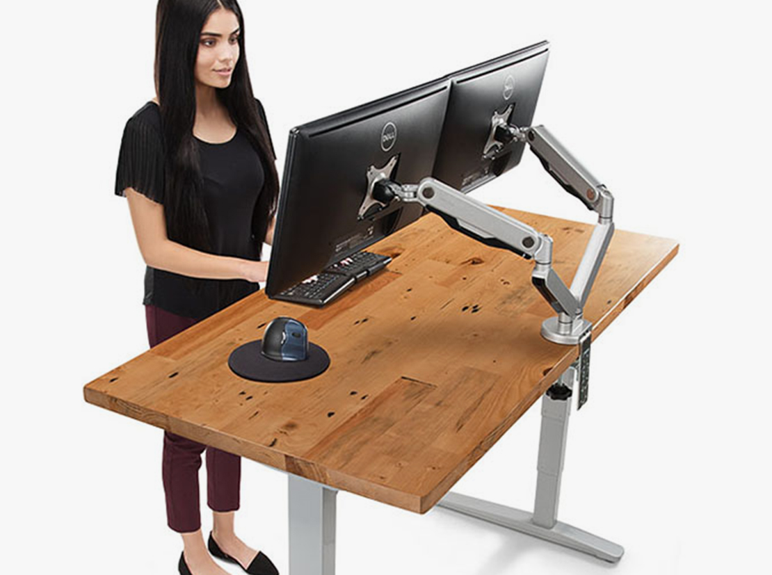 Incroyable A Complete Height Adjustable Desk With Reclaimed Wood Desktop
