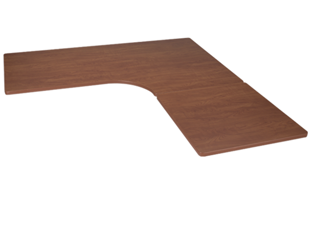 Height Adjustable Standing Desk With Laminate L Shaped Top