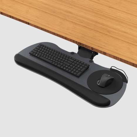 KBT-02 Standard Under Desk Adjustable Keyboard Tray Black