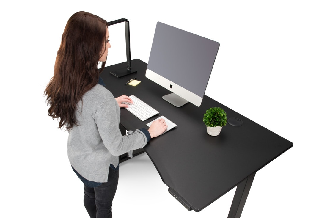 Desk For Office Design Intended Eco Curve Desk By Uplift Flexible Office Furniture And Design Uplift Desk