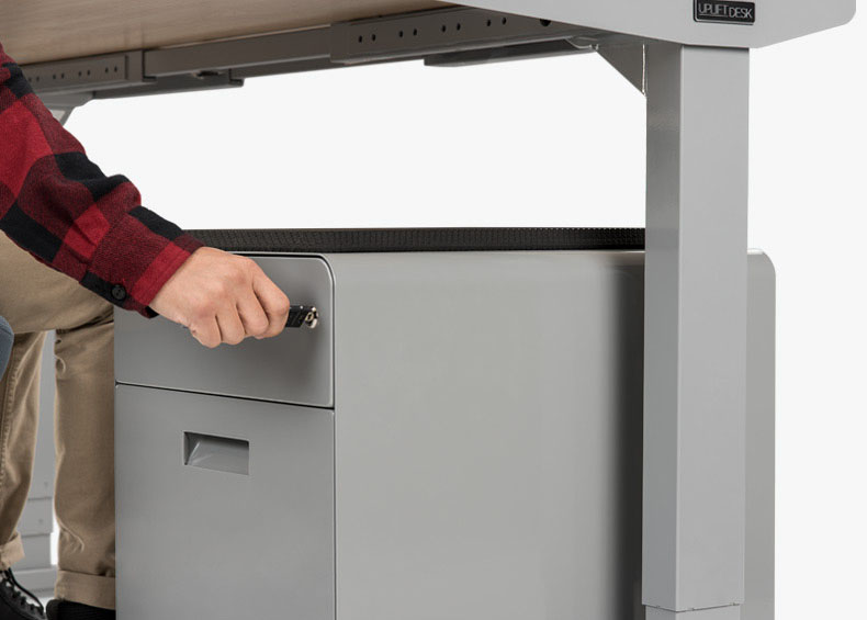 2 Drawer File Cabinet With Seat By Uplift Desk