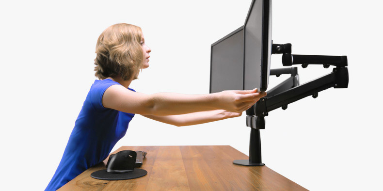 Adjust Both Monitors With Ease The Uplift Dual Monitor Arm