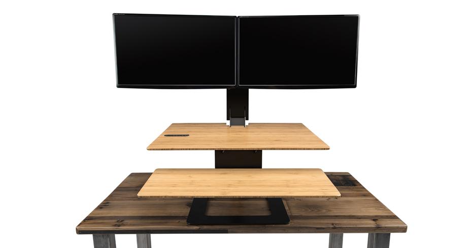 Wood Standing Desk Converter Hostgarcia